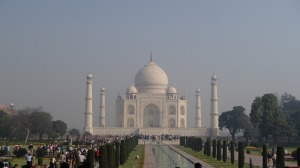 The famouse Taj Majal, one of the 7 Wonders of the World