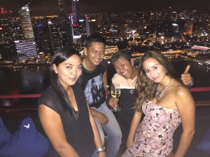 At the top of Marina Bay Sands Hotel Club Ce La Vi