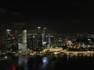 Night view of the city from club 1 Altitude