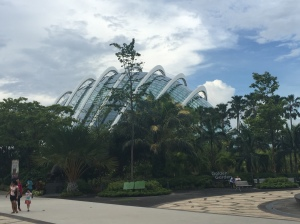 A view from the outside of Gardens by the Bay