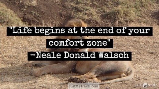 Life begins are the end of your comfort zone